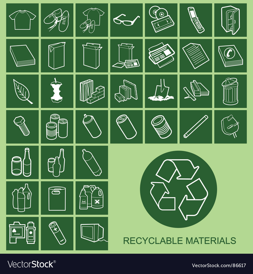 Recyclable materials vector | Price: 1 Credit (USD $1)