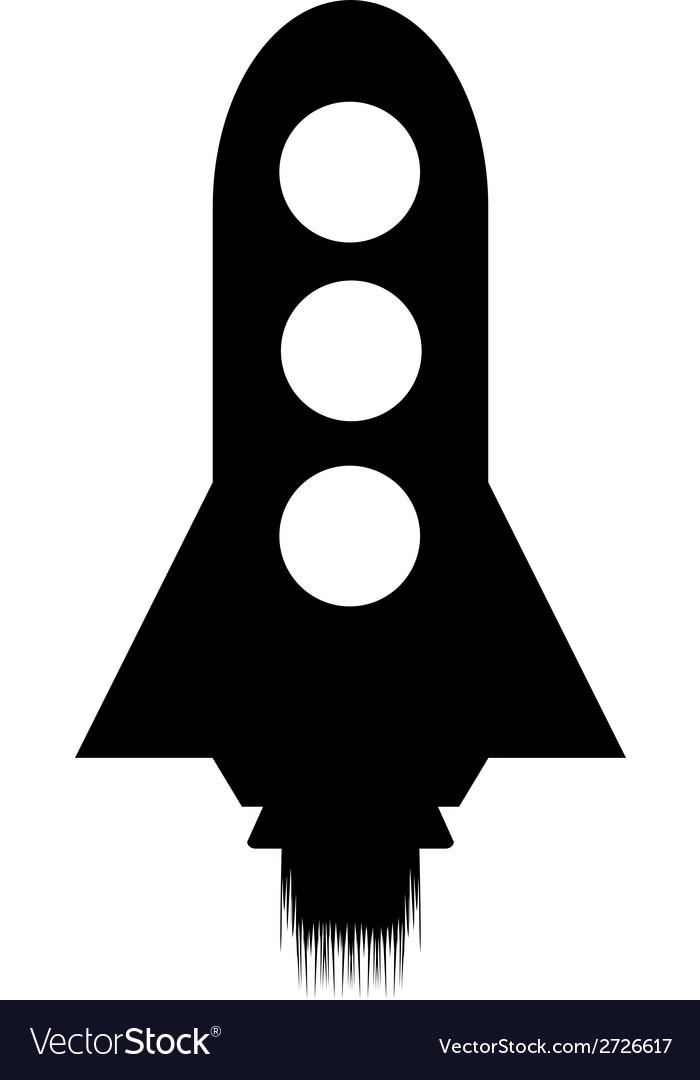 Starting rocket icon vector   Price: 1 Credit (USD $1)