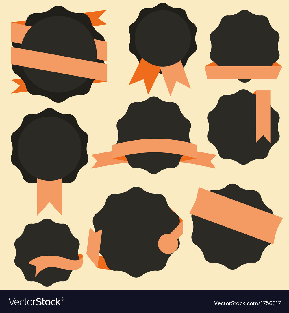 Stickers and badges flat style vector | Price: 1 Credit (USD $1)