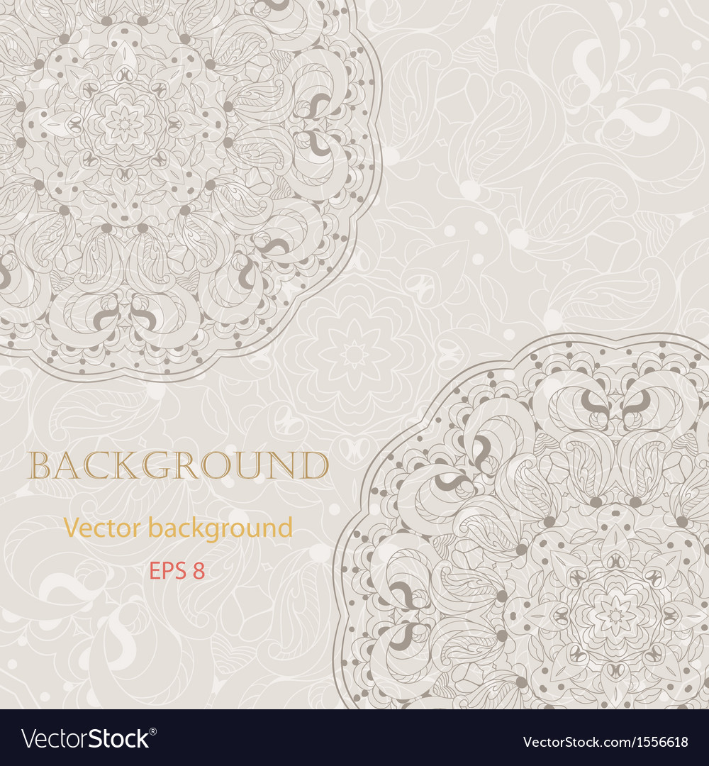 Beautiful arabesque lace pattern background vector | Price: 1 Credit (USD $1)