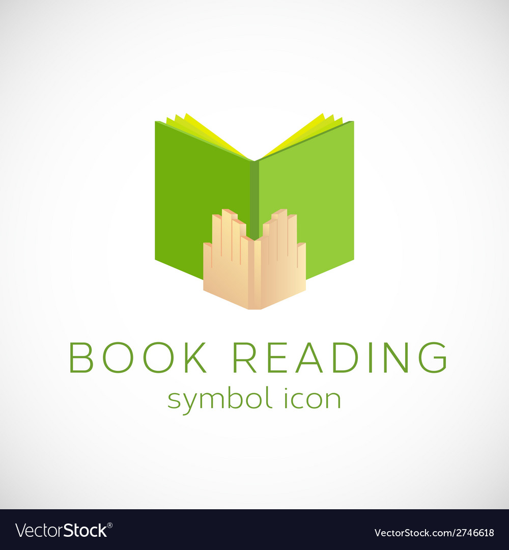 Book reading concept symbol icon or label vector | Price: 1 Credit (USD $1)