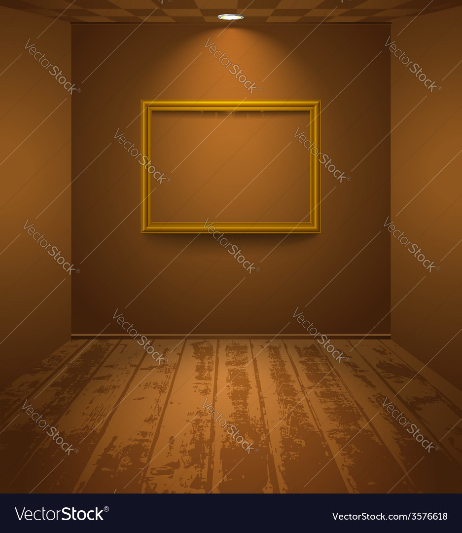 Brown room with frame vector | Price: 1 Credit (USD $1)