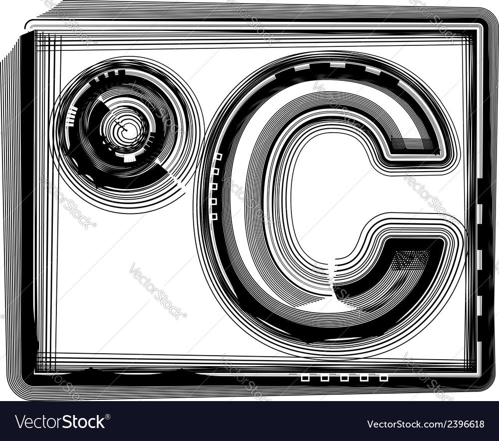 Celcius striped symbol vector | Price: 1 Credit (USD $1)