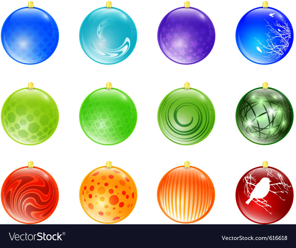 Christmas baubles vector | Price: 1 Credit (USD $1)