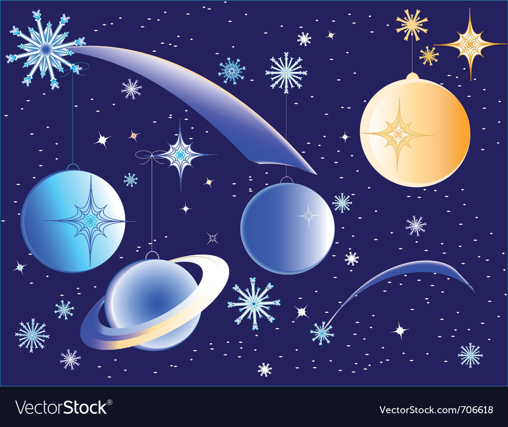 Christmas galaxy vector | Price: 1 Credit (USD $1)
