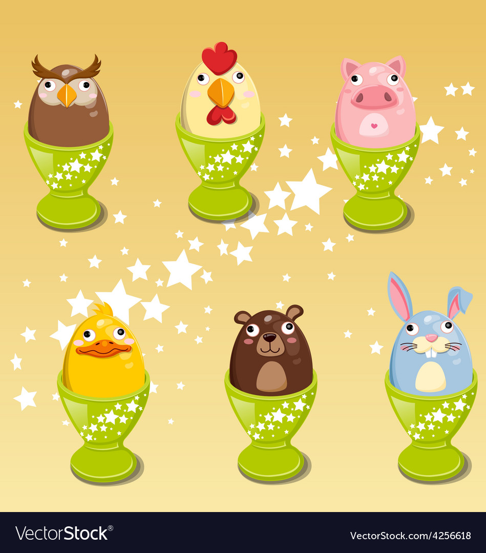 Easter egg images animals clip art vector | Price: 3 Credit (USD $3)