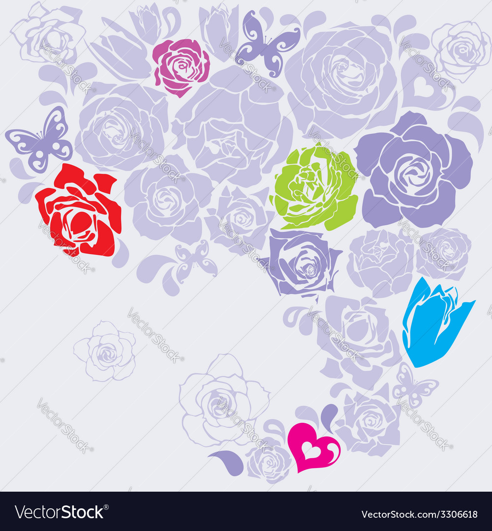 Floral postcard vector | Price: 1 Credit (USD $1)