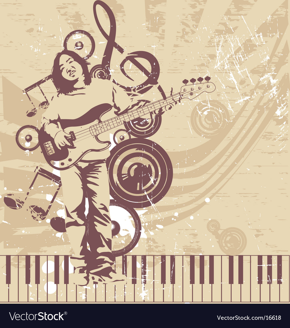 Funky bass player vector   Price: 3 Credit (USD $3)