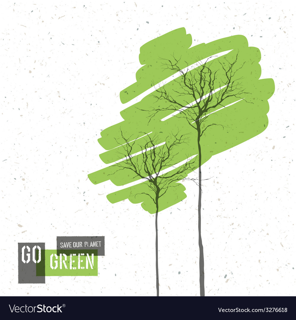 Green trees concept vector | Price: 1 Credit (USD $1)