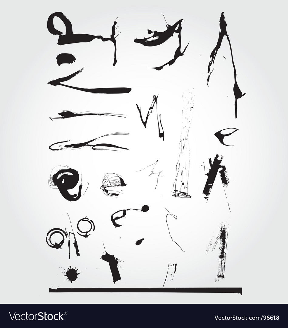 Grunge ink set vector | Price: 1 Credit (USD $1)