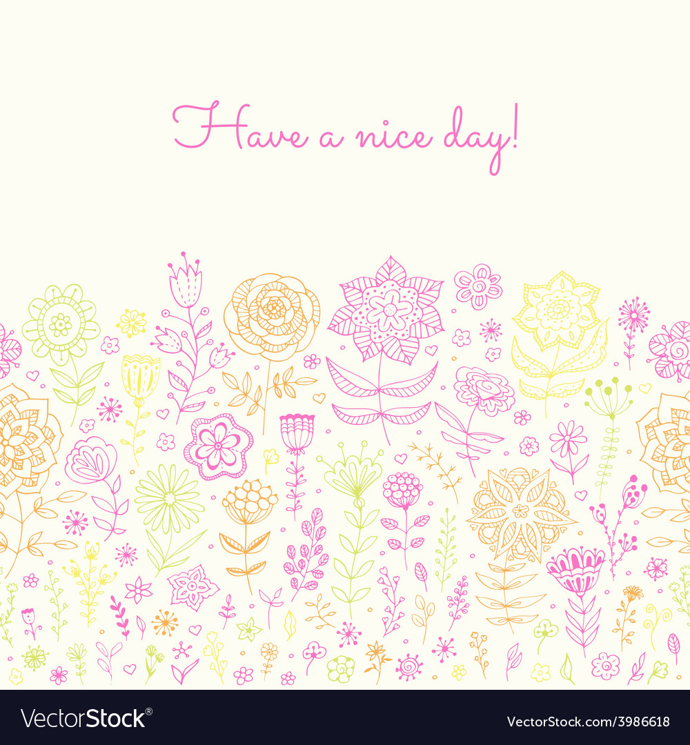 Have a nice day background vector | Price: 1 Credit (USD $1)