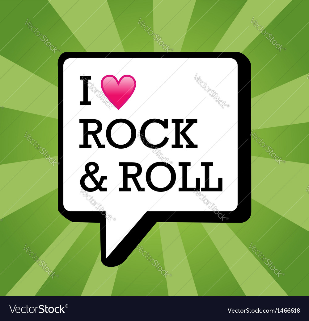 I love rock and roll background vector | Price: 1 Credit (USD $1)