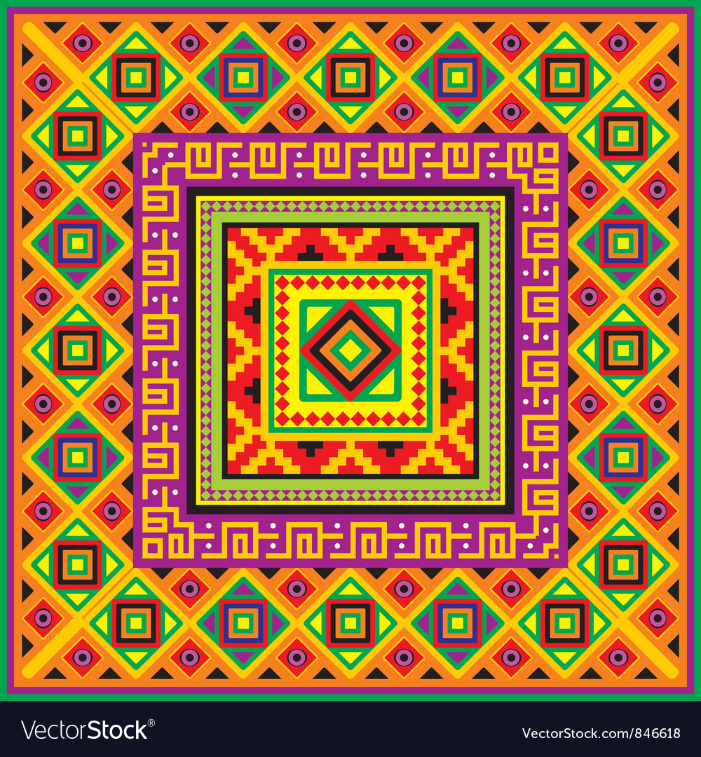 Mexican square background vector | Price: 1 Credit (USD $1)