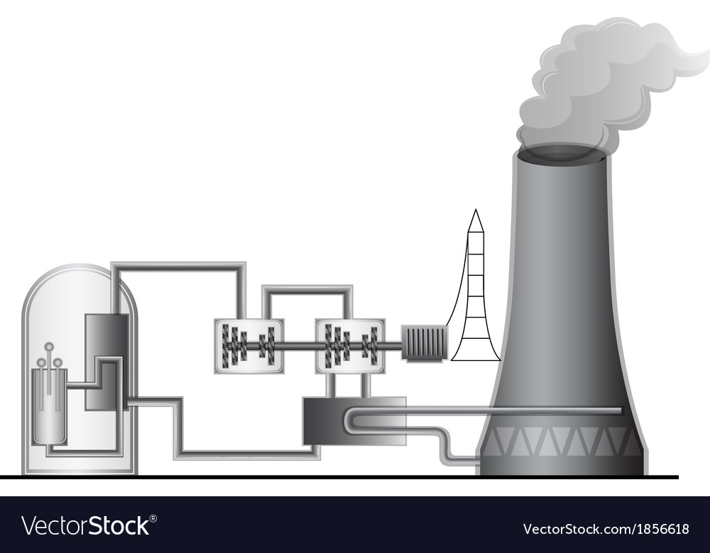 Nuclear power plant vector | Price: 1 Credit (USD $1)