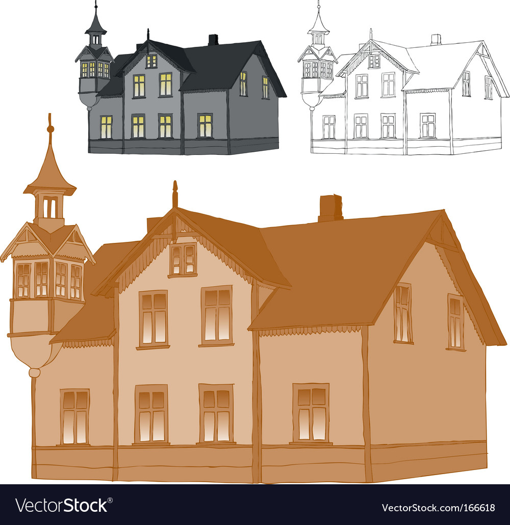 Old family house vector | Price: 1 Credit (USD $1)