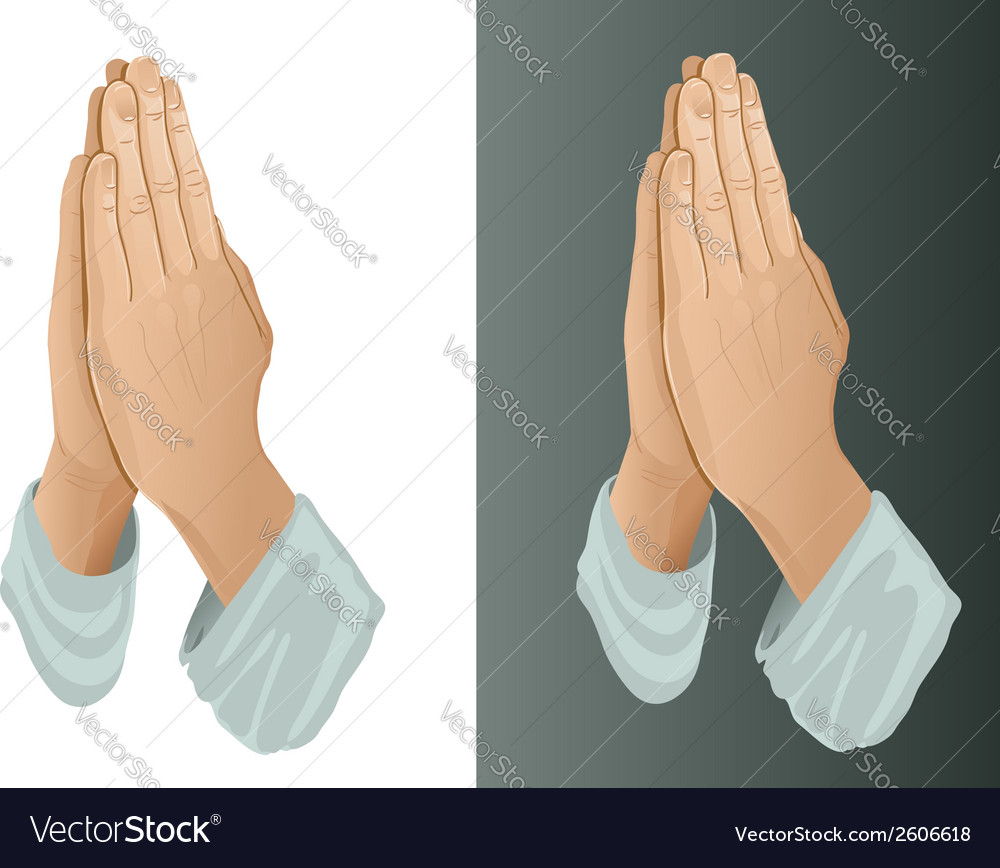Praying hands vector | Price: 1 Credit (USD $1)