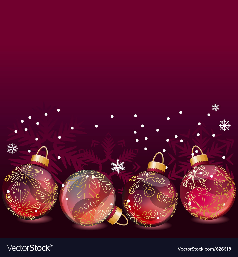 Red christmas background with glass balls vector | Price: 1 Credit (USD $1)