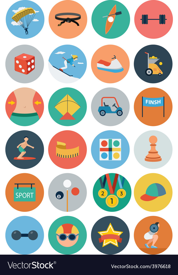 Sports flat icons - vol 4 vector | Price: 1 Credit (USD $1)