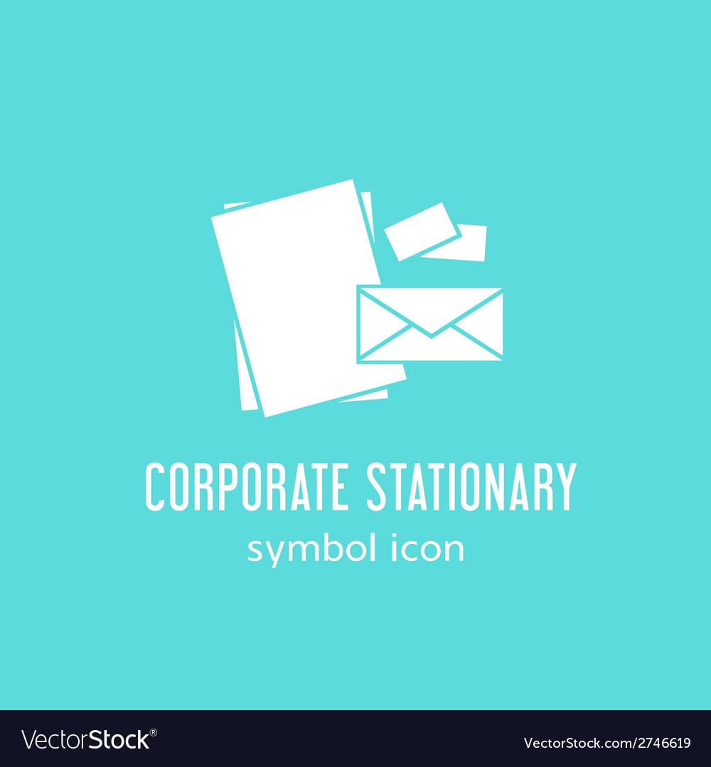 Corporate stationary concept symbol icon or label vector | Price: 1 Credit (USD $1)