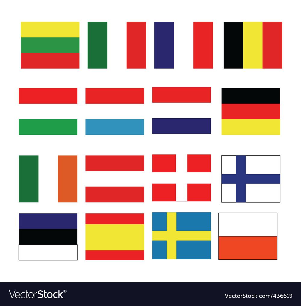 European continental flag vector | Price: 1 Credit (USD $1)