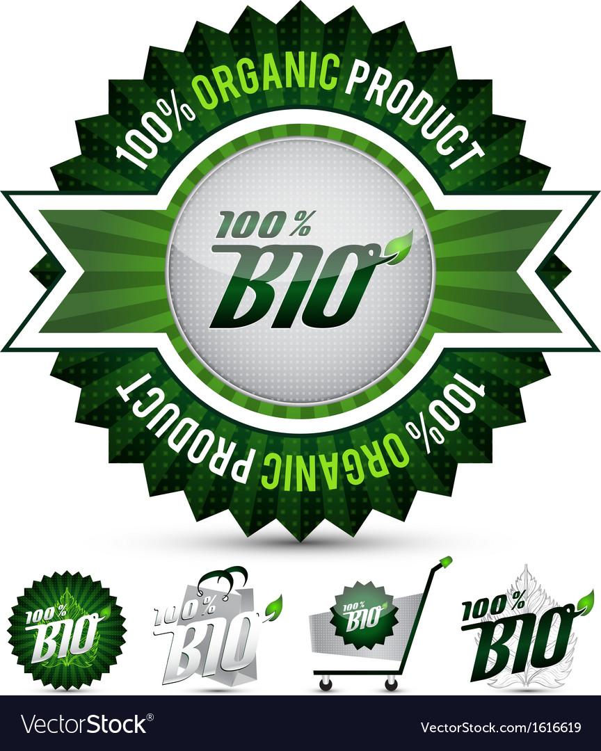 Five bio labels vector | Price: 1 Credit (USD $1)
