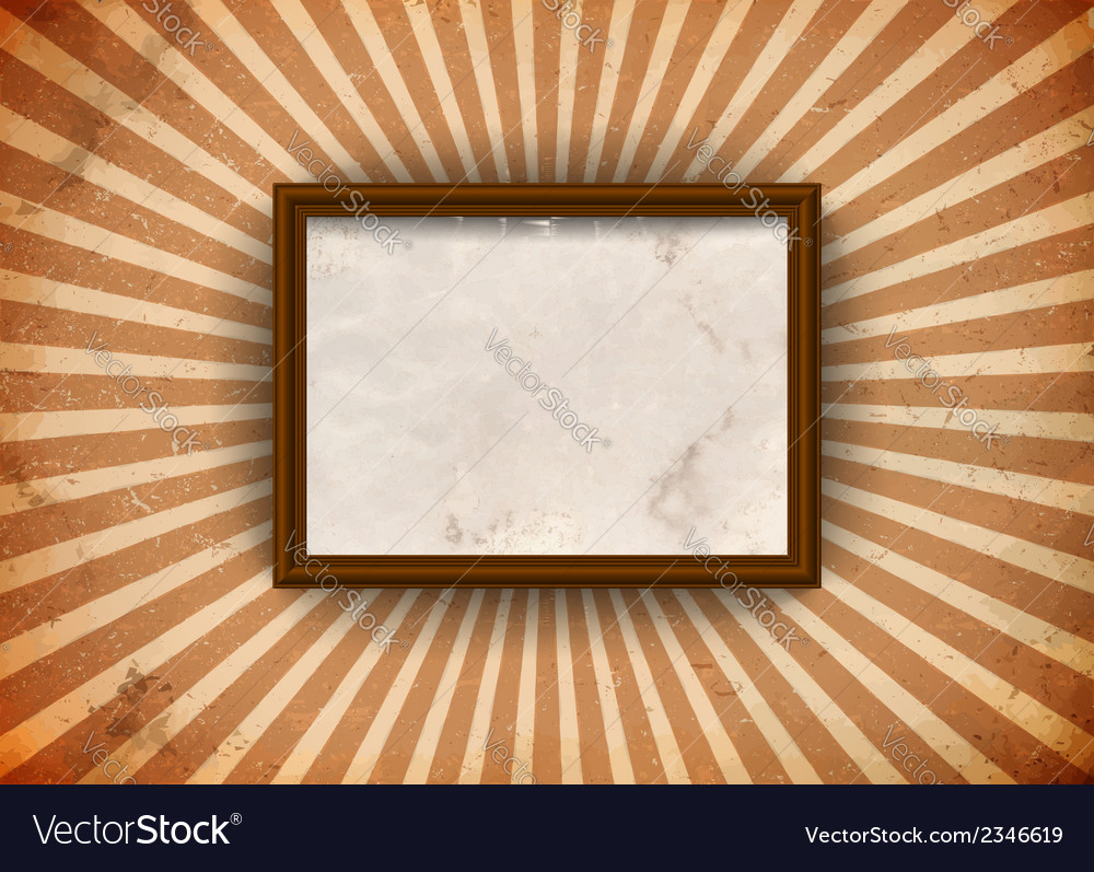 Grungy frame with rays vector | Price: 1 Credit (USD $1)