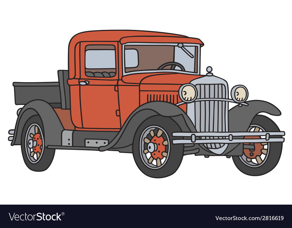 Old pick-up vector | Price: 1 Credit (USD $1)