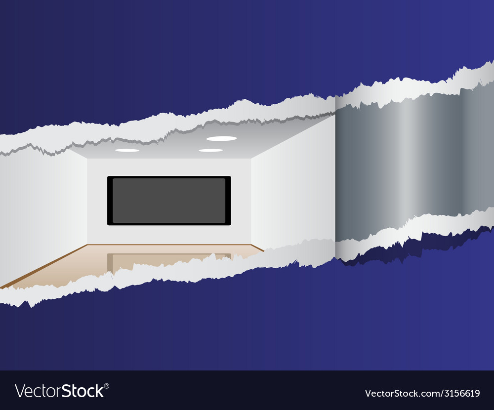 View on room with a plasma tv vector | Price: 1 Credit (USD $1)