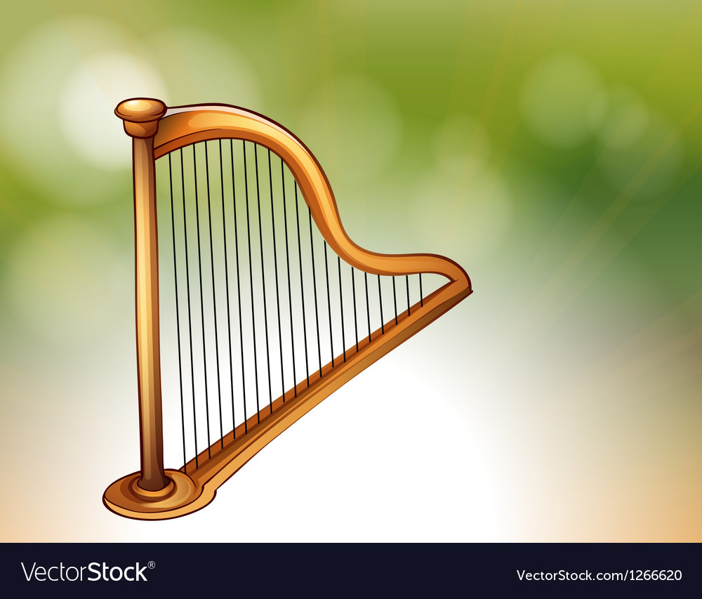 A golden harp vector | Price: 1 Credit (USD $1)