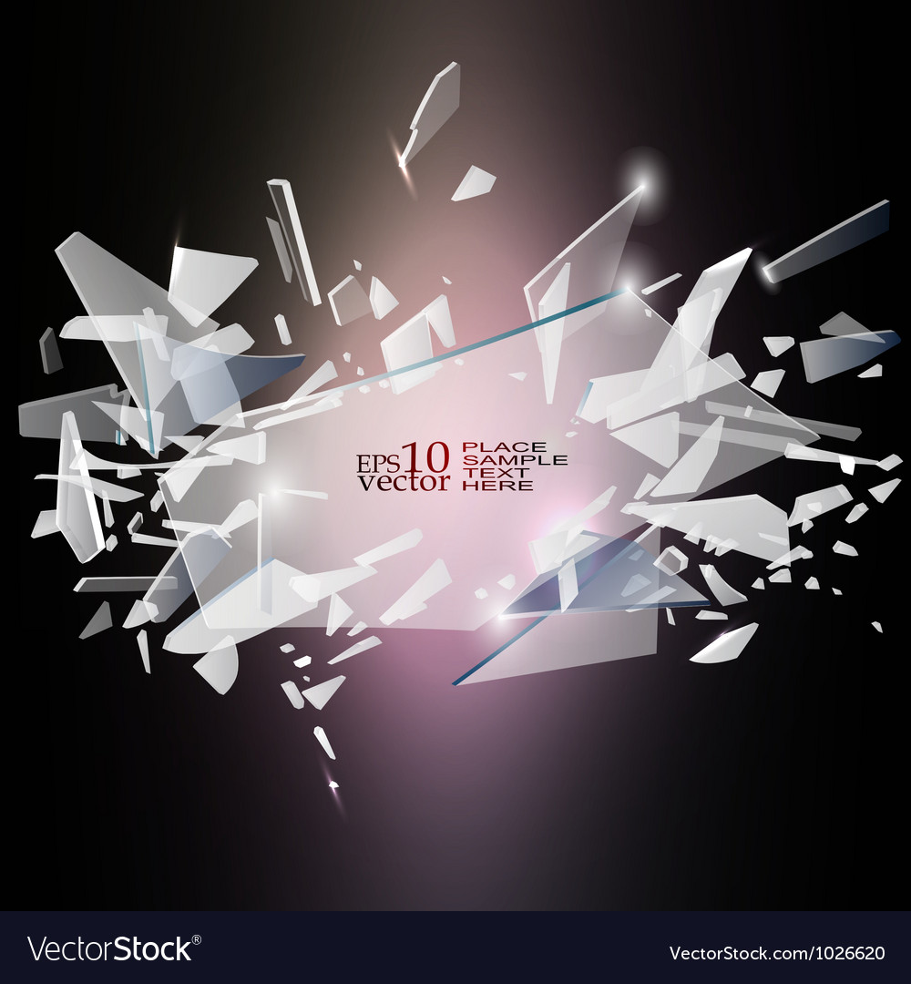 Broken glass design vector | Price: 1 Credit (USD $1)