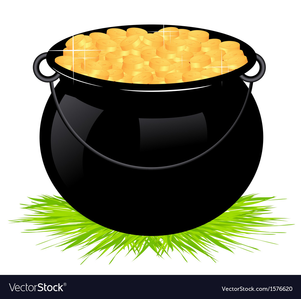 Cauldron with money vector | Price: 1 Credit (USD $1)
