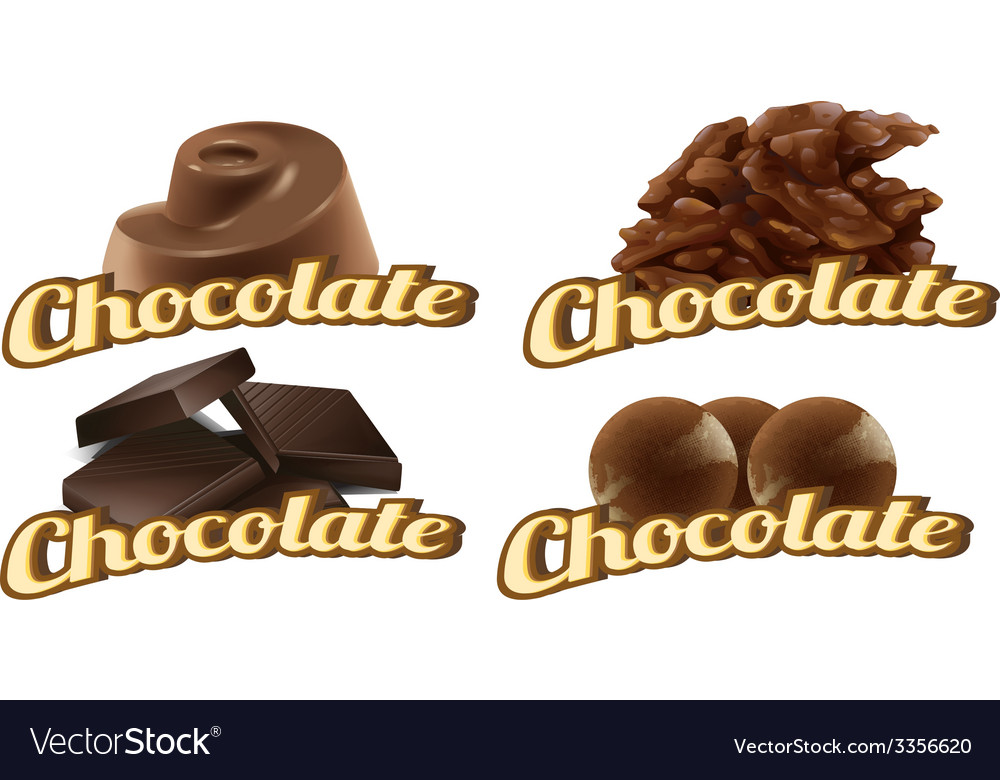 Chocolate labels vector | Price: 1 Credit (USD $1)
