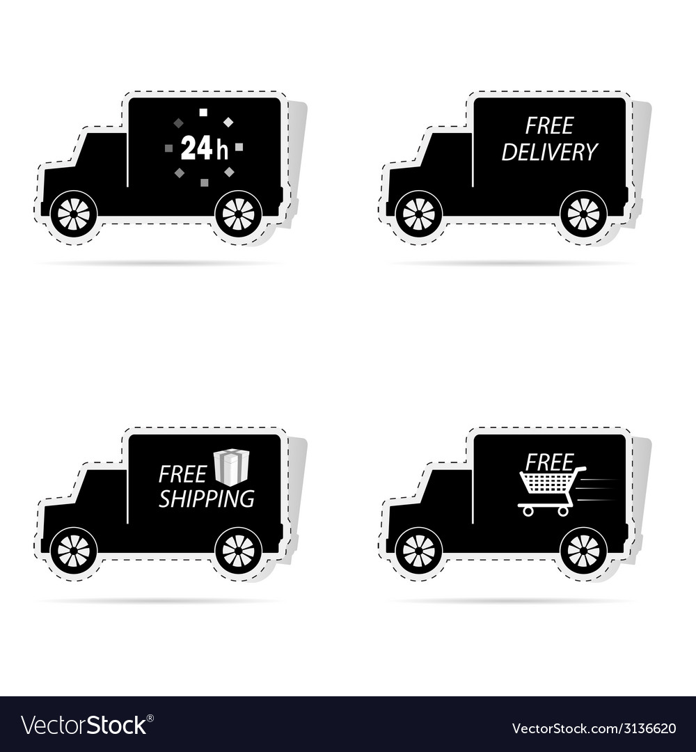 Delivery truck sticker vector | Price: 1 Credit (USD $1)