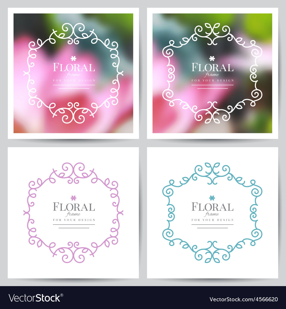 Floral frames vector | Price: 1 Credit (USD $1)