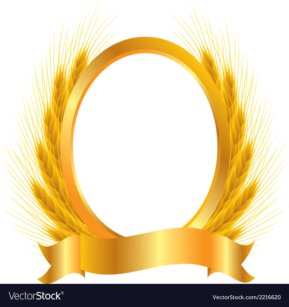 Gold vignette vector | Price: 1 Credit (USD $1)