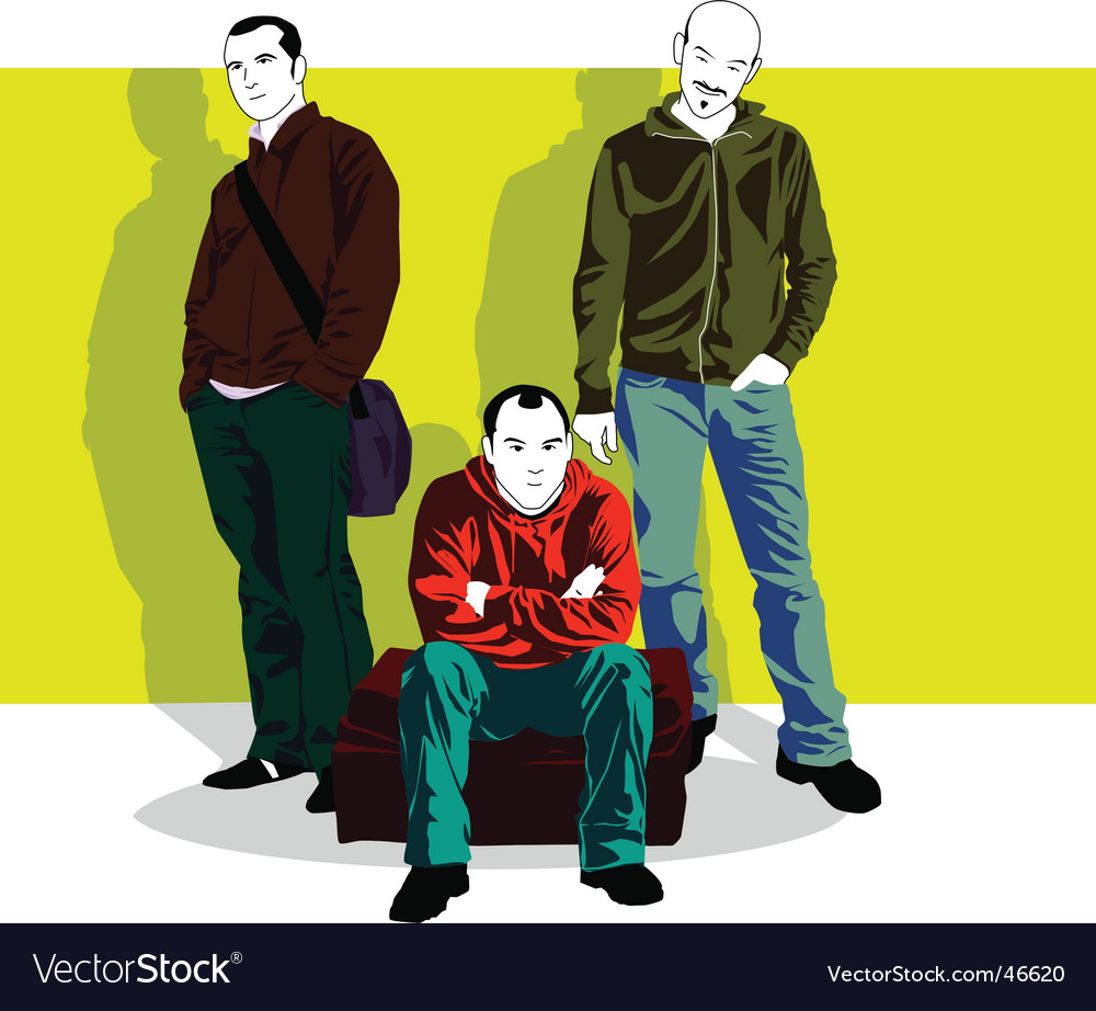 Guys posing vector | Price: 3 Credit (USD $3)