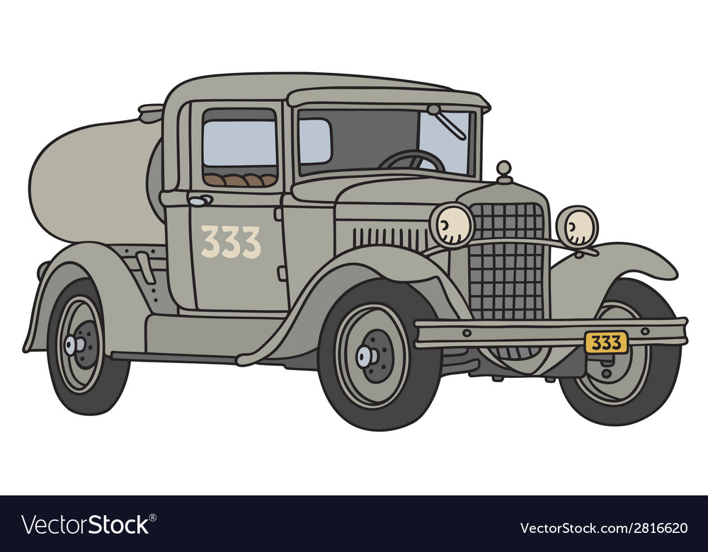 Old tank truck vector | Price: 1 Credit (USD $1)