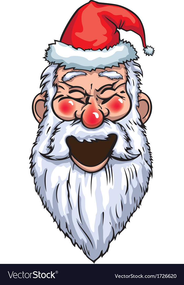 Santa claus laughing head vector | Price: 1 Credit (USD $1)