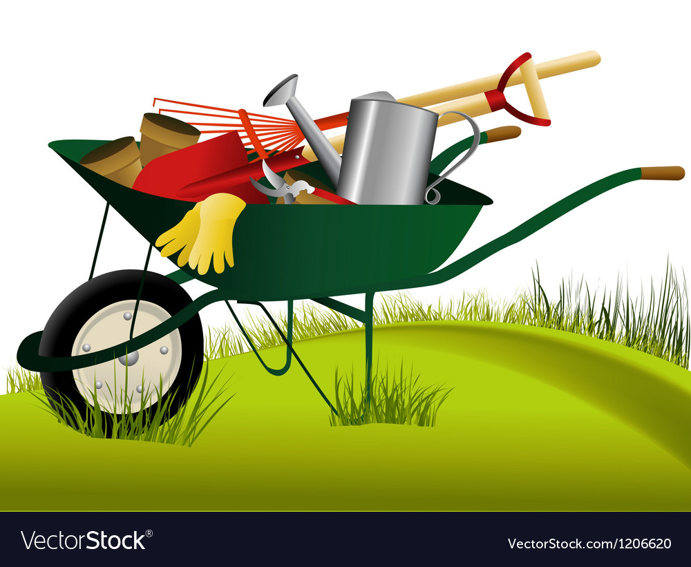 Set of garden tools vector | Price: 1 Credit (USD $1)