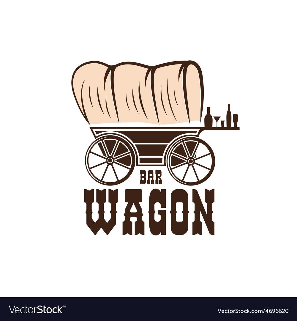 Wagon western bar concept design template vector   Price: 1 Credit (USD $1)