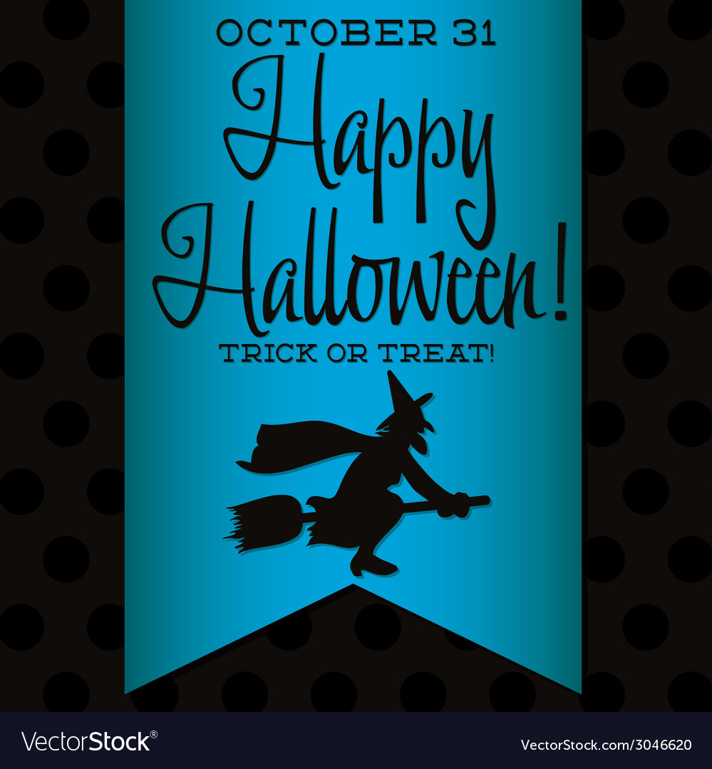 Witch halloween sash card in format vector | Price: 1 Credit (USD $1)