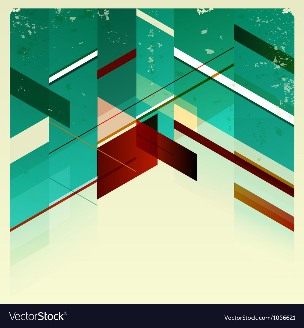 Abstract retro geometric background vector | Price: 1 Credit (USD $1)