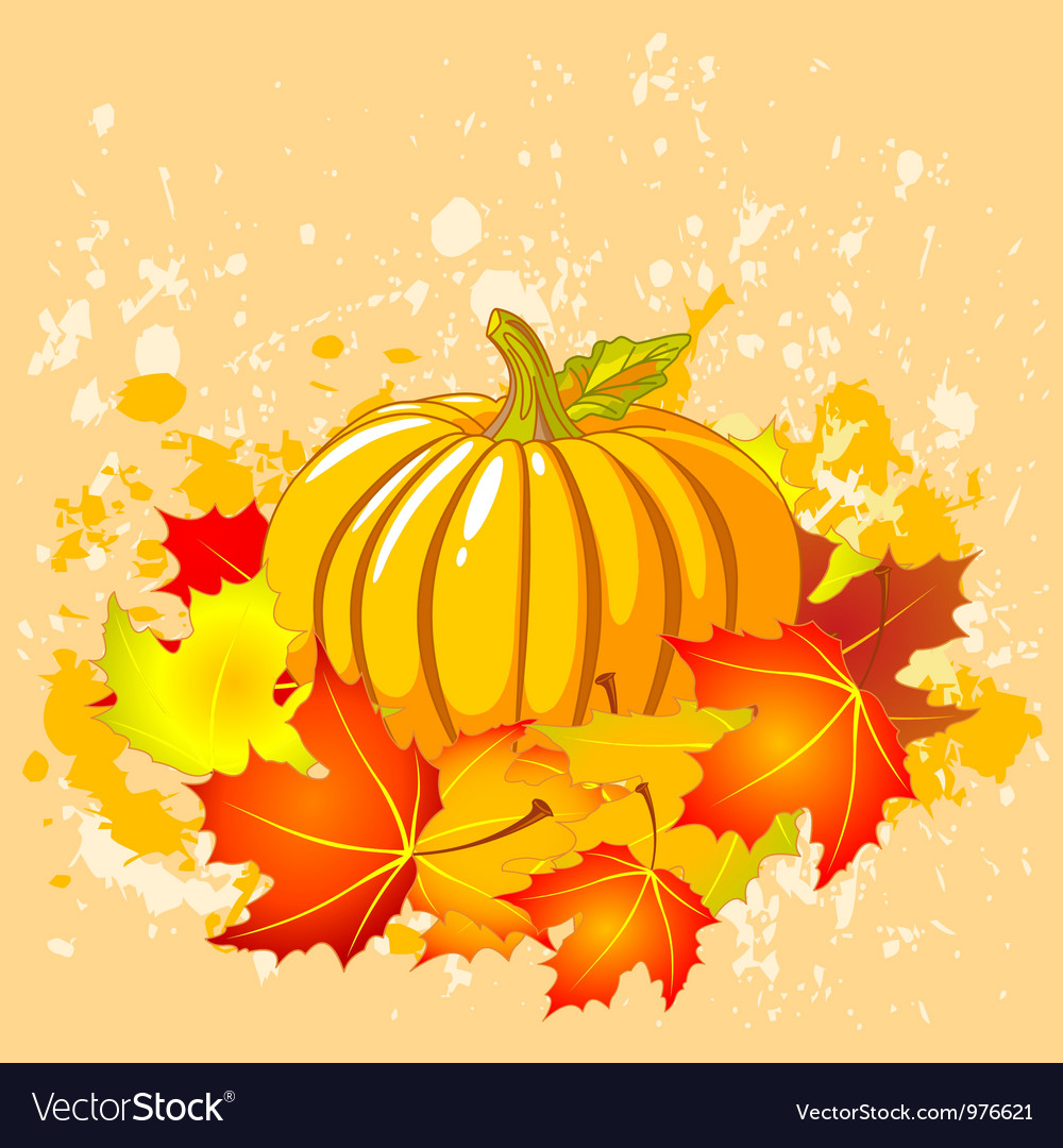 Autumn place card vector | Price: 3 Credit (USD $3)