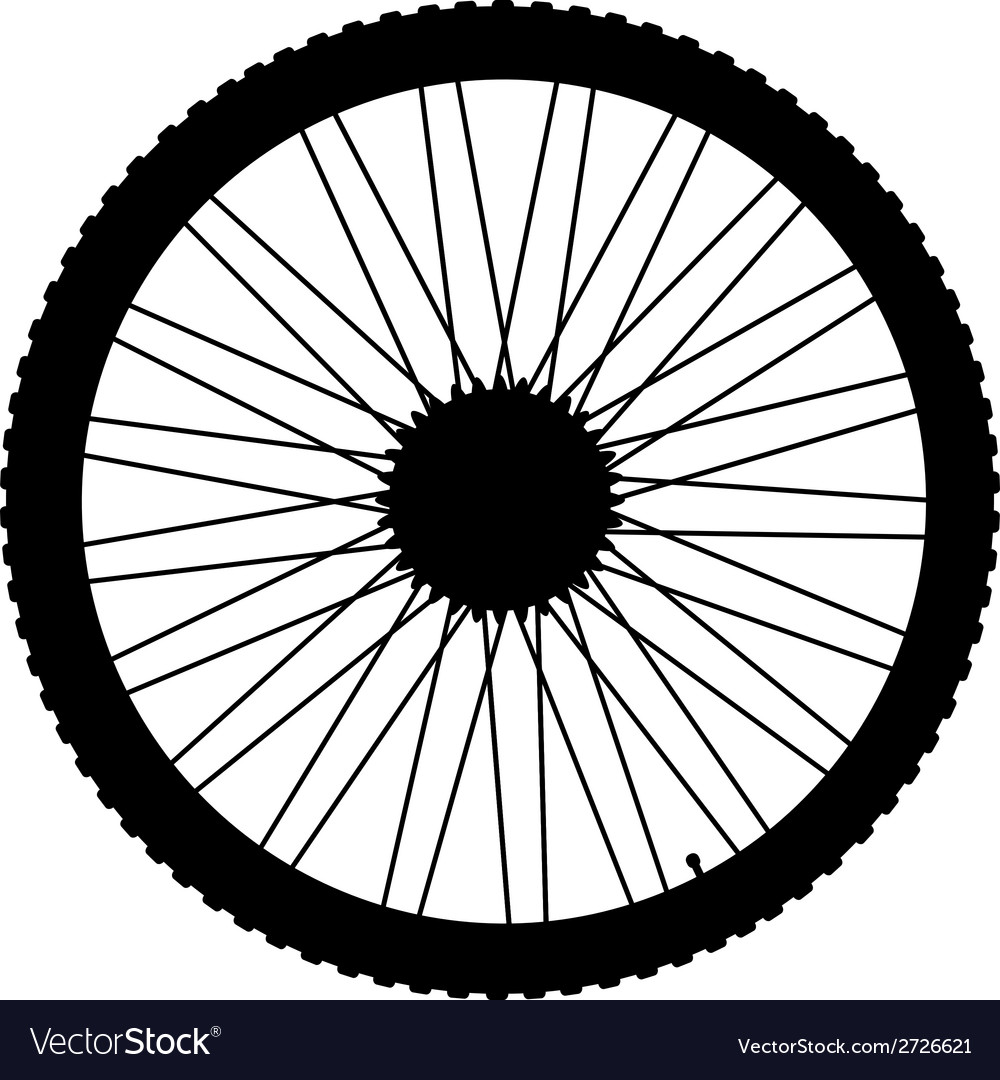 Bicycle wheel icon vector | Price: 1 Credit (USD $1)