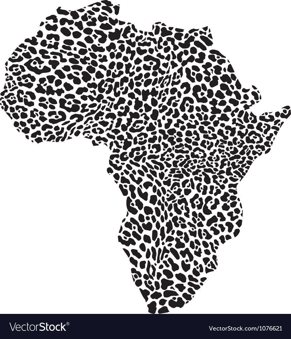 Continent in a leopard camouflage vector | Price: 1 Credit (USD $1)