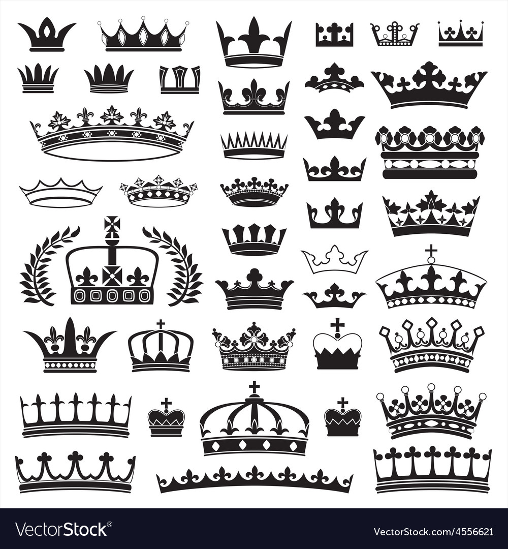 Crowns collection vector | Price: 1 Credit (USD $1)