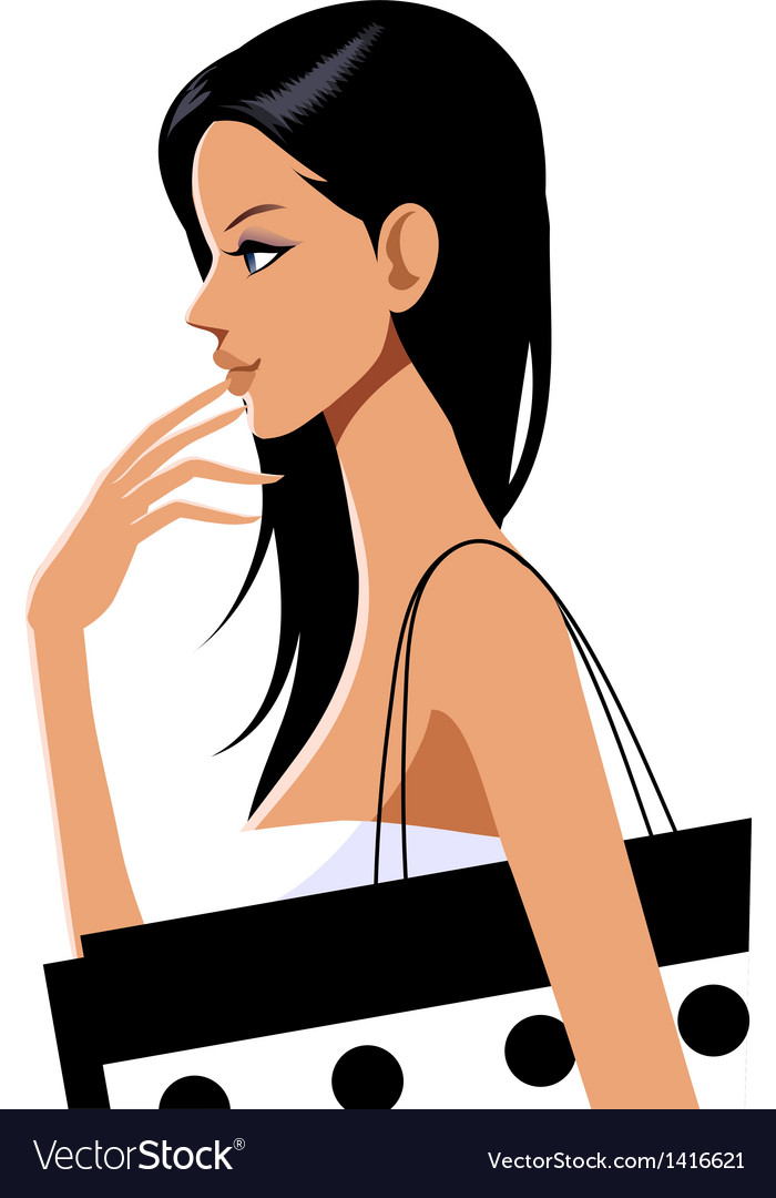 Girl shopping - stylish fashion shopper vector | Price: 3 Credit (USD $3)