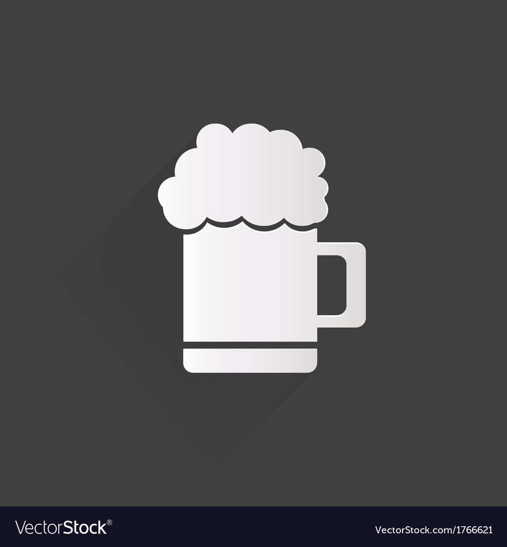 Glass of beer web icon vector | Price: 1 Credit (USD $1)