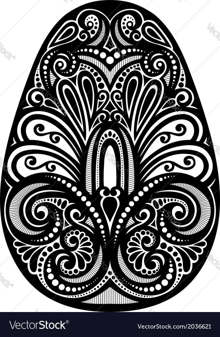 Holiday ornate easter egg vector | Price: 1 Credit (USD $1)