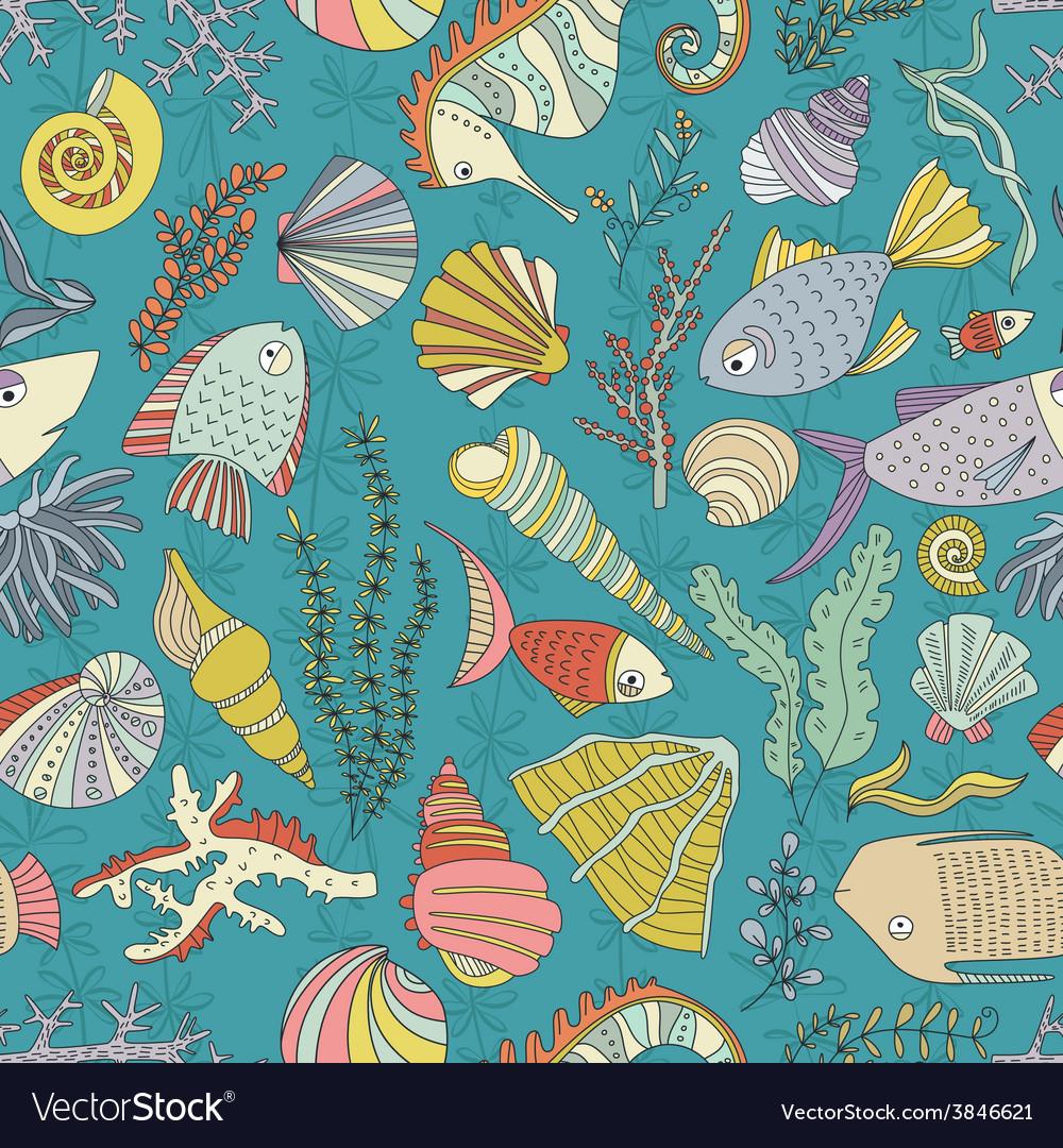 Ocean pattern vector | Price: 1 Credit (USD $1)